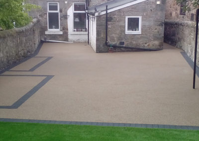 4 Grange road Burntisland resin garden patio AFTER