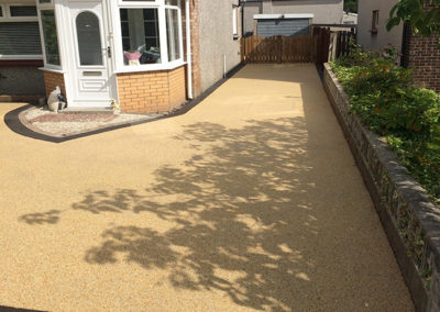Hamilton resin driveway after