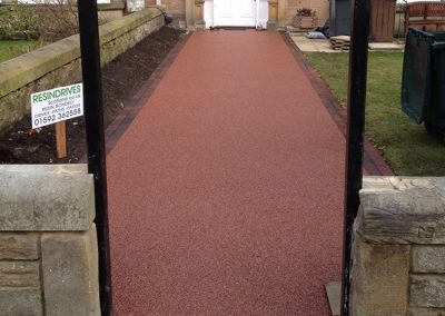 gartcosh gardens resin path edinburgh AFTER