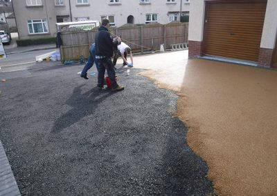 large resin drive kirkcaldy DURING