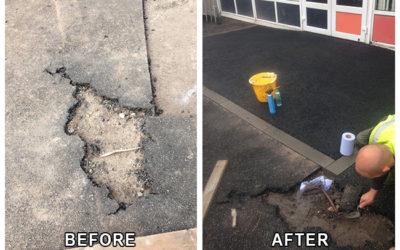 Rubber Crumb Repair, Primary School Blingary Fife